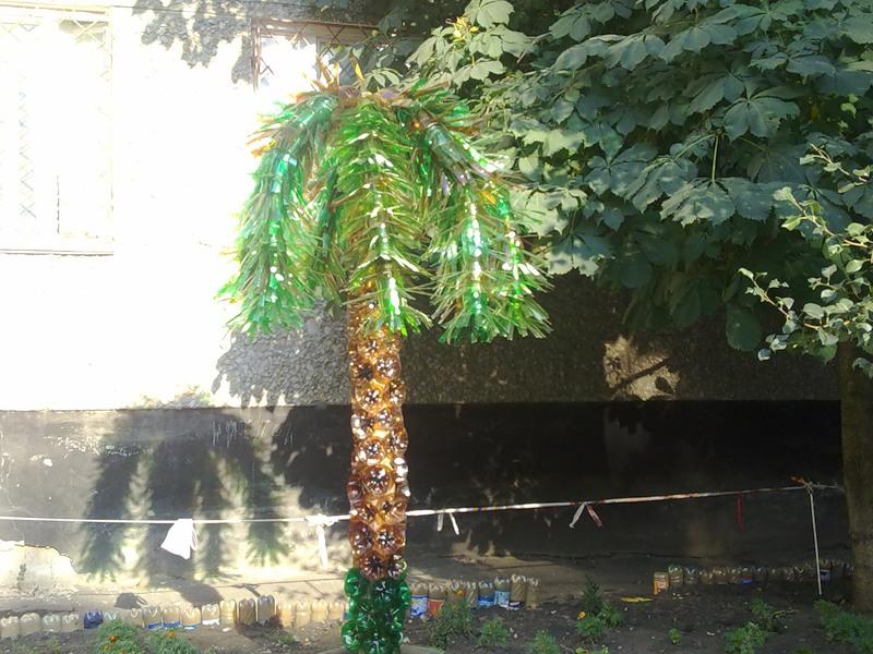 Пальма своими руками из подручных материалов